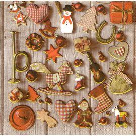 Petit Sujet De Noel Lot de 2 serviettes papier: Petits sujets de Noël | Rakuten