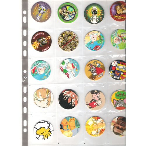 LOT DE 20 POG POGS : game caps, p'tit louis, the machine, T