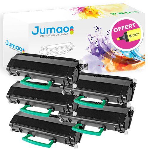5 x compatible Casio xr-18we noir sur blanc Label bandes 18mm x 8m pour LabelWorks