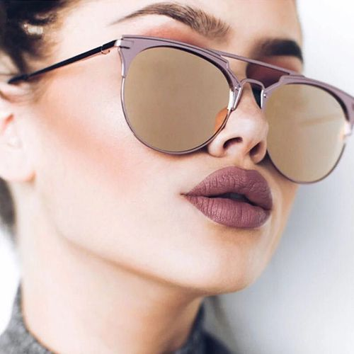 Designer 2018 Cat Soleil Vintage De Luxe Pour Eye Femelle Ronde Femmes Marque Dames Lunettes Yyfb6g7v