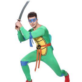 Maboobie Deguisement Costume Tenue Tortue Ninja Homme Garcon Halloween Leo Teenage Mutant Turtles Bd Loups Carapace Carnaval Taille Unique Rakuten