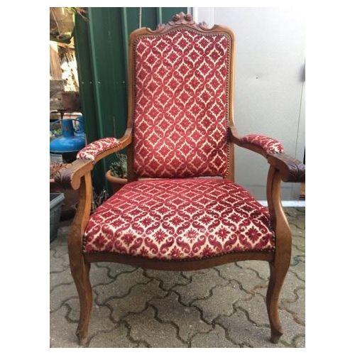 pas mal 9d296 7fd12 Magnifique fauteuil Voltaire ancien
