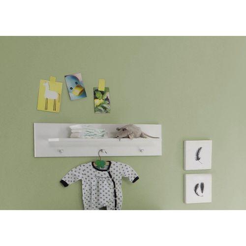Maisonnerie 1553-680-01 Chambre Bébé Création Olivia Étagère Murale Blanc,  LxHxP 75x20x15 cm