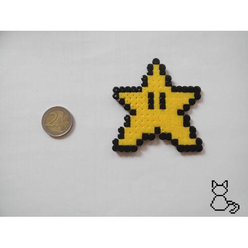 Mario étoile Dinvincibilité Pixel Art