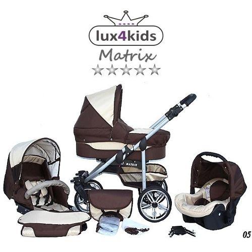 chanceli/ère, si/ège auto /& adaptateurs, habillage pluie, moustiquaire, roues pivotantes hiver Chilly Kids Matrix 2 poussette combin/ée Set 63 noir /& fleurs graphite