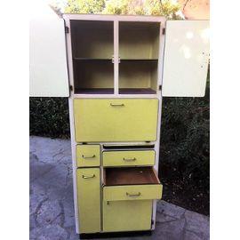 Meuble Cuisine Vintage Formica Jaune 1950 1970