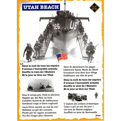 DRAPEAU JOUR J COMMEMO 75 TH D-DAY 48 STARS GI US WW2 JEEP WILLYS NORMANDIE