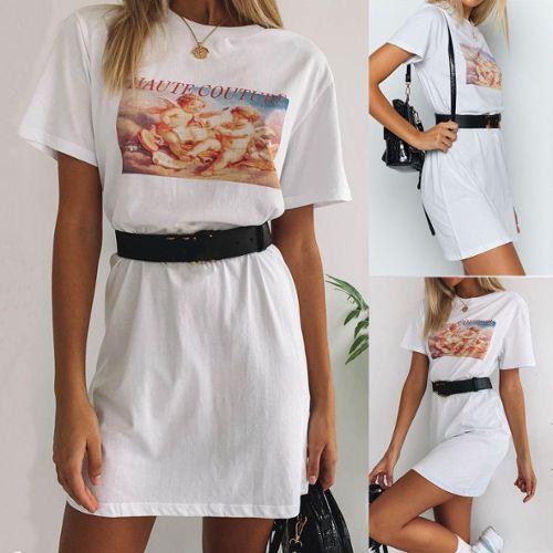 61aa09a606 mode-feminine-blanc-d-ete-o-cou-a-manches-courtes-angle-imprimer-robe -mini-casual-blanc-taille-asiatique-il-est-recommande-d-en-prendre-un-grand-  ...