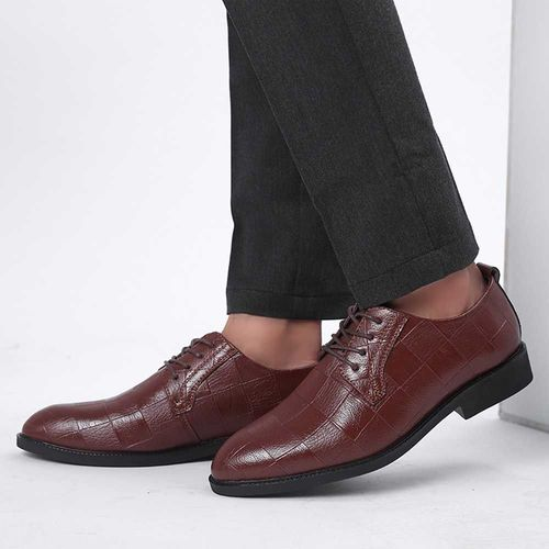 Chaussures Homme Cuir Chaussures Hommes Ville Cuir Souple Chaussures de Mode en Cuir Hommes Casual Chaussures /à Bout Pointu Chaussures de Costume