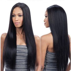 Naturel Noir Cheveux Longs Perruque Straight