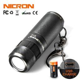 LED USB Clé Lampe Rechargeable Torche de Poche Portable Porte-clé Lumière