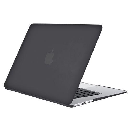 photos officielles 744fc 5a83c Noir coque pour Apple MacBook Air 13