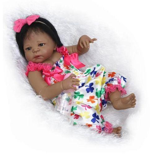 Lifelike Baby Doll Une Peau Douce, du Nouveau-né bébé Poupées Afro-américaine de Jeu pour bébé