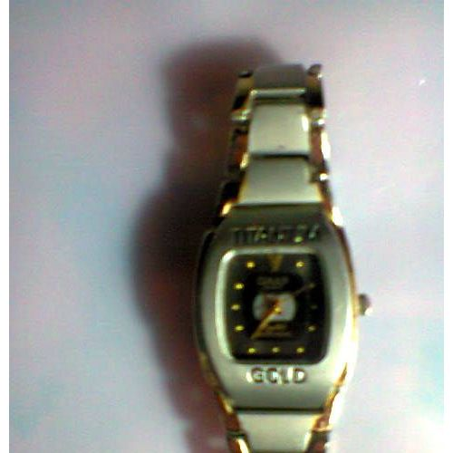 Acier Supplementaire Avec Gold Japan Brosser Titanium Futuriste Omax Montre Made Syle In Femme Quatre Maillons O80wnPk