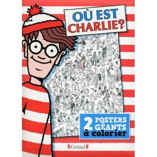 Ou Est Charlie 2 Posters Geants A Colorier