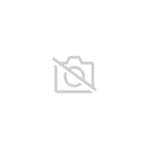 Fashion Métal Ovale carré émail argent plaque pendentif en Cuir Noir Collier N45