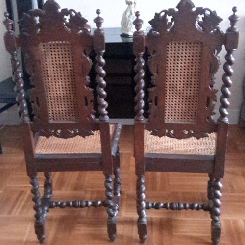 Chaises 20 Du Siècle Xiii Ou Style Paire Paillées Ème De Louis 19 Y6b7vfgy