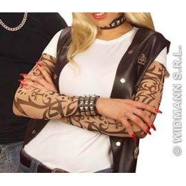 Paire Manches Tatouees Mixte Deguisement Rockeur Faux Tatouage Maquillage Femme Ou Femme Rakuten