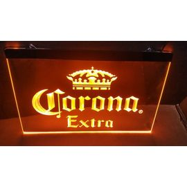 Lumineuse Cafe Led Bière Bar Extra Neon Pub Corona Panneau Lampe Enseigne 76Yfbgy