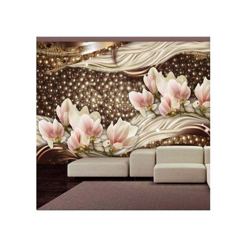 Style Vintage Papier Peint Revêtement Mural Texturé Marron Olive or damassé 3D