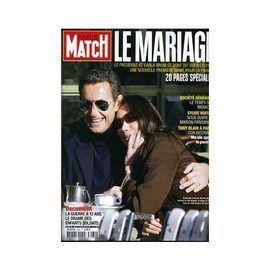 Paris Match N 3064 Le Mariage De Nicolas Sarkozy Et Carla Bruni Sylvie Vartan Sa Maison Parisienne Enfants Soldats Rakuten