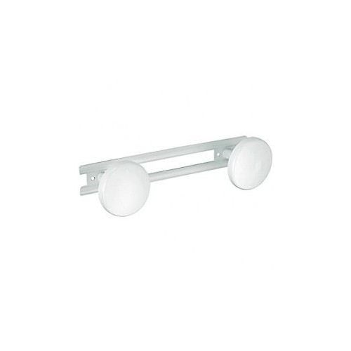 Blanc Armoire Rod Rail Fin Support Socket support 19 mm Pack de 2 NEUF