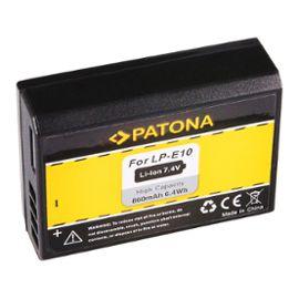 PATONA Batterie pour Canon LP-E10 EOS 1200D EOS1100D EOS-1100D Rebel T3  LP-E10 Kiss