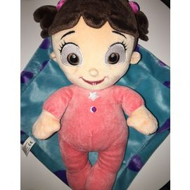 Peluche Doudou Poupee Petite Fille Bouh Monstres Et Compagnie 31cm Disneyland Paris Pixar Rose Couettes Brunes Couverture Bleue Jouet Booh Boo Bebe