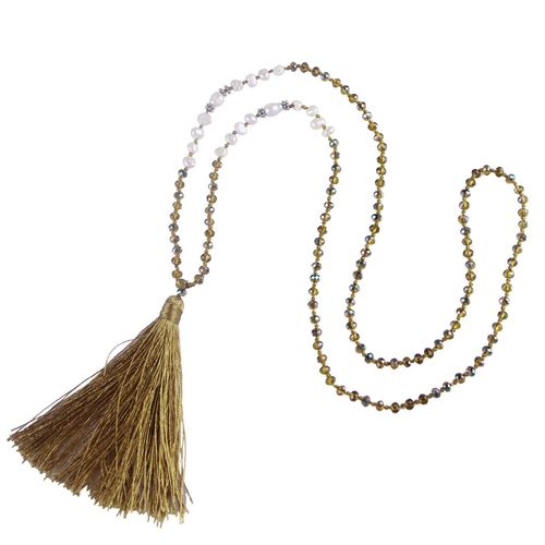 "7-9 mm Ovale Blanc eau douce perle /& Noir Corde Handmade Fashion Style Collier 28/"""