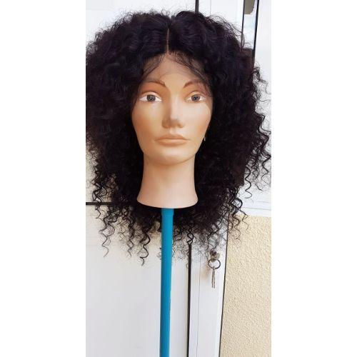 Black /& Purple Long Cheveux Humain EMO perruque Taille unique. Unisexe