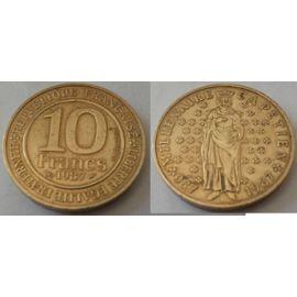 etat FRANCE 10 francs  millenaire CAPETIEN  1987