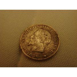 piece française, Napoleon III empereur , empire français, 5 centimes 1856