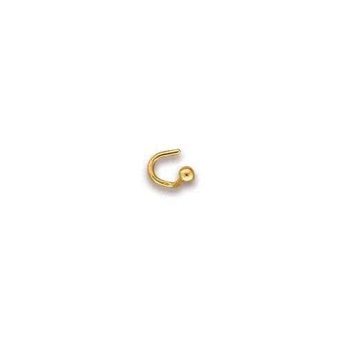 Simple Fil Nez Anneau 22K Solide Or Véritable Septum narine Piercing Hoop 20 G USA