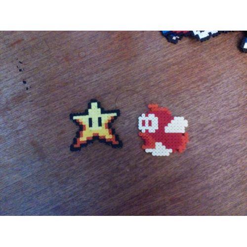 Pixel Art étoile Poisson Mario