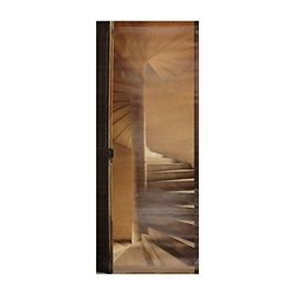 Plage 141016 Sticker Trompe L Oeil Porte Escalier à Vis 204 X 83 Cm