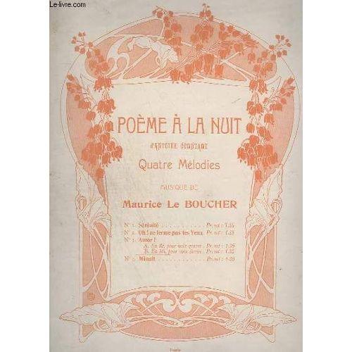Poeme A La Nuit N 3b Amor En Mi Pour Voix Elevees Piano Et Chant