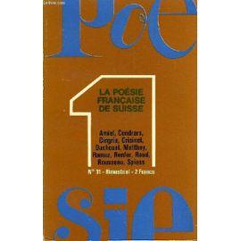 Poesie 1 N 31 La Poésie Française De Suisse Vers La Transgression Poétique Par Vahé Godel Textes Et Poèmes De Jean Jacques Rousseau