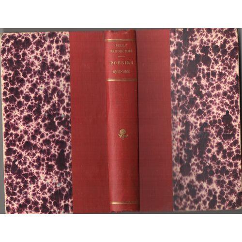 Poésies De Sully Prudhomme Stances Et Poèmes 1865 1866