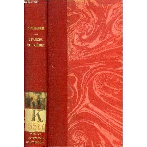 Poesies De Sully Prudhomme Stances Et Poemes 1865 1866