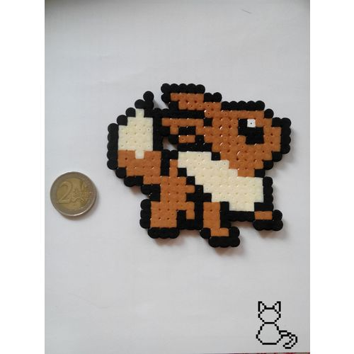 Pokemon Evoli Eevee Pixel Art