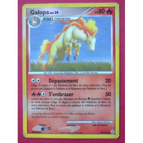 Carte Pokémon Diamant et Perle 59//130 Galopa pv 80