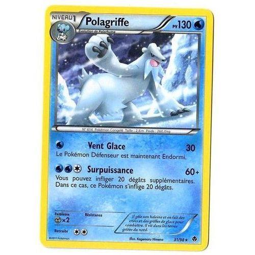 Polagriffe Noir/&Blanc:Pouvoirs Emergents-31//98-Carte Pokemon Neuv France