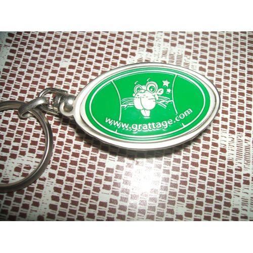 TUPPERWARE porte clés micro FIX gris avec bouton rouge NEUF