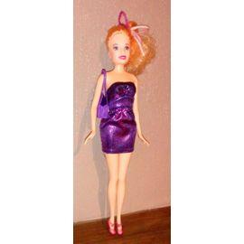 Poupee Mannequin Blonde En Robe Bustier De Soiree Violette Rakuten