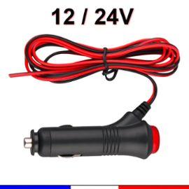 Republe Allume-Cigare fiche m/âle 12//24 5A fusible LED Voyant Voiture Adaptateur dalimentation