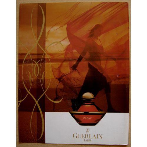 Guerlain Parfum De 1998 Papier Samsara Publicité k08nOwP