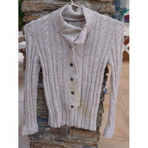 nouveau concept b3c3f 34fa8 pull fille laine tricoté main 7 ans ou 120