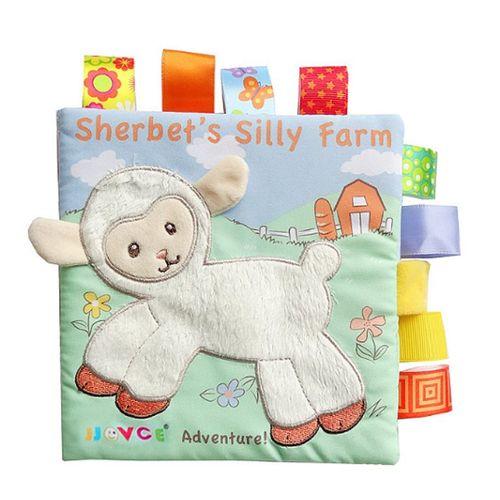 Puzzle Animaux Tissu Livre Bebe Jouets Tissu Debut Developpement Livres Pour Bebes Mouton