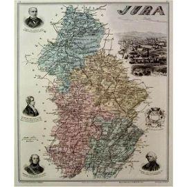 Rare Ancienne Belle Carte Gravee Du Departement Du Jura Arrondissements De Lons Le Saunier Dole Poligny Saint Claude 1886 Rakuten
