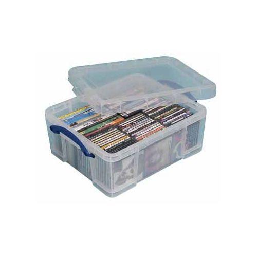 Really Useful Boxes boîtier de rangement pr CD/DVD pour 93 CD ou 44 DVD, transparent, ft ...